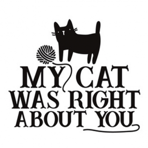 My cat was right about you, vinyl transfer