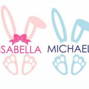 personalised bunny vinyl transfer