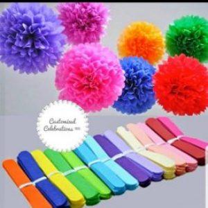 3D pom pom flowers
