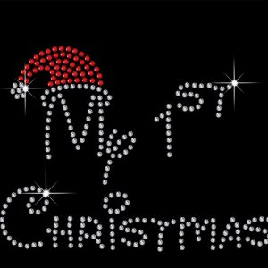 my first Christmas rhinestone transfer