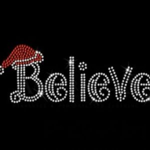 believe rhinestone transfer