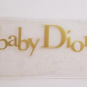 baby dior vinyl transfer