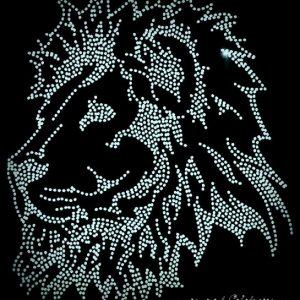 lion rhinestone transfer